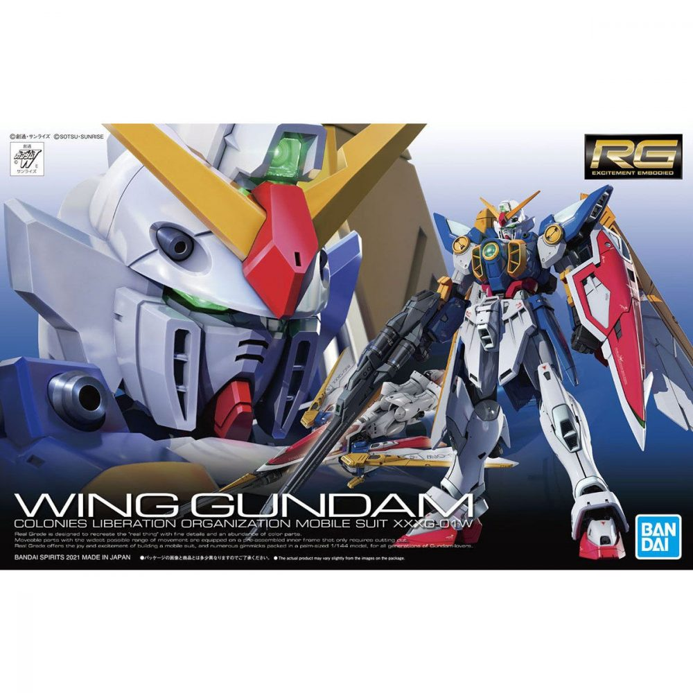 rg wing gundam box art