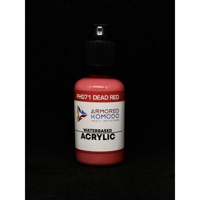 PH071 Dead Red Waterbased acrylic