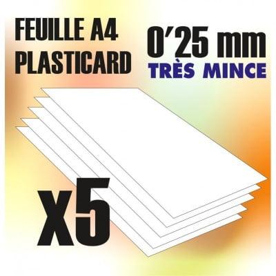 5 feuilles plasticard 0.25 mm
