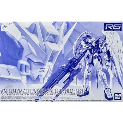 rg wing gundam zero ew & drei zwerg titanium finish box art