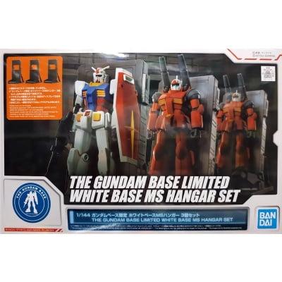 THE GUNDAM BASE LIMITED WHITE BASE MS HANGAR SET BOX ART